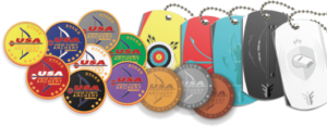 JOAD Achievement Pins and Explore Archery Medals